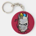 Pluma y tinta del vitral de Batman Llavero Redondo Tipo Pin