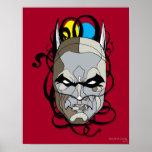 Pluma y tinta del vitral de Batman Póster