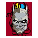 Pluma y tinta del vitral de Batman Tarjetas Postales