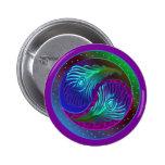 Pluma Yin Yang 5 del pavo real Pin