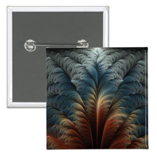 Plumage Abstract Art 2 Inch Square Button