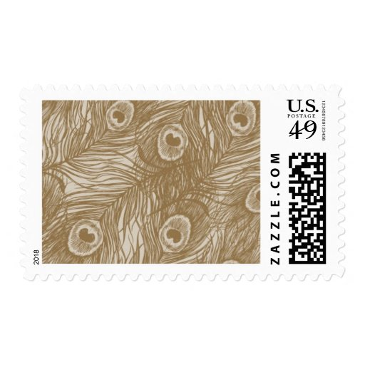 Plumage Gold Feathers A by Ceci New York Stamp