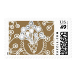 Plumage Gold Floral A by Ceci New York Stamps