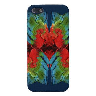 Plumaje tropical iPhone 5 fundas