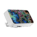 Plumas abstractas del pavo real - arte colorido de iPod altavoz