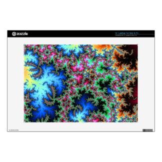 Plumas abstractas del pavo real - arte colorido portátil 33cm skins