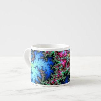 Plumas abstractas del pavo real - arte colorido taza de espresso