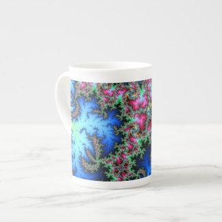 Plumas abstractas del pavo real - arte colorido taza de té
