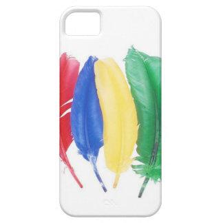Plumas artísticas del color primario iPhone 5 Case-Mate cárcasas