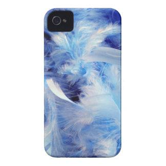 plumas azules del fondo background-14469 mullidas iPhone 4 Case-Mate cárcasa