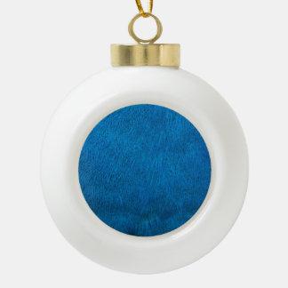 Plumas azules del pavo real adorno de cerámica en forma de bola