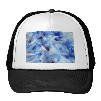 Plumas azules gorro de camionero