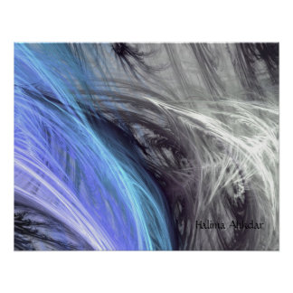 Plumas azules, Halima Ahkdar Póster