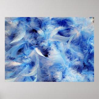 Plumas azules póster