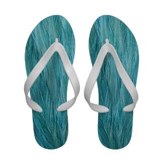 Plumas azules sandalias