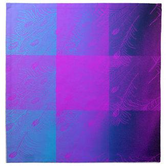 Plumas azules servilletas de papel