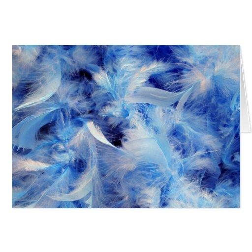 Plumas azules tarjeton