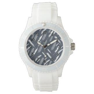 Plumas blancas de la marina de guerra relojes