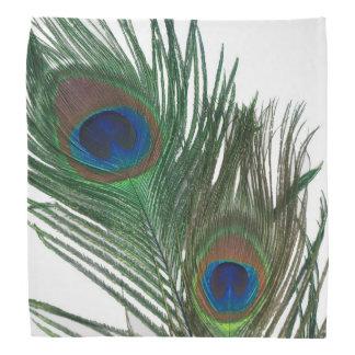 Plumas blancas preciosas del pavo real bandanas