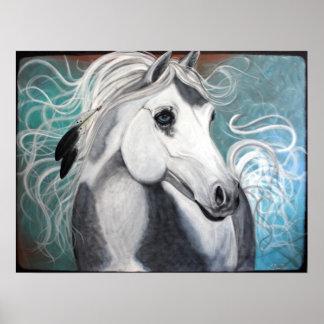 Plumas/caballo/poster de Eagle Póster