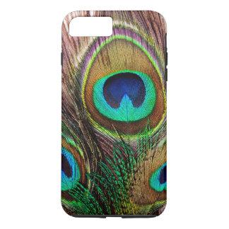 Plumas coloreadas joya hermosa elegante del pavo funda iPhone 7 plus