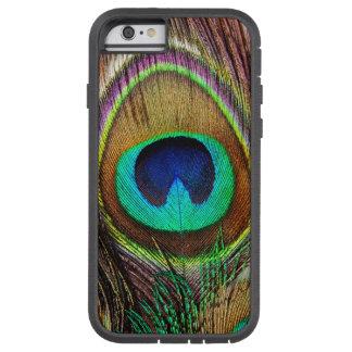 Plumas coloreadas joya hermosa elegante del pavo funda tough xtreme iPhone 6