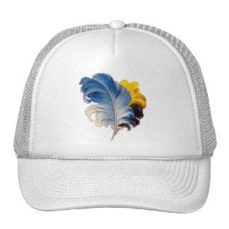 Plumas coloridas del penacho de la avestruz del vi gorras de camionero