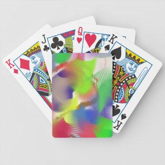 Plumas de la pintada baraja cartas de poker