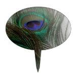 Plumas de moda contemporáneas del pavo real del ©  decoración de tarta