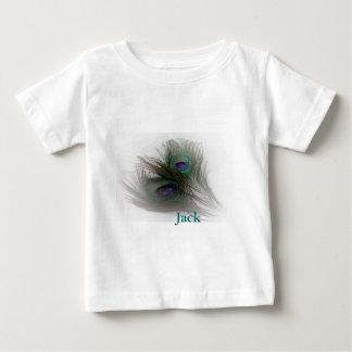 Plumas de moda contemporáneas del pavo real del © playera