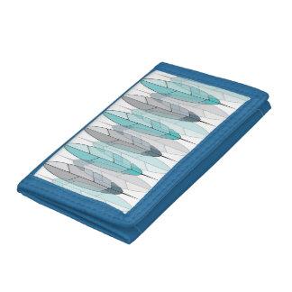 Plumas de nylon triples azules del nativo