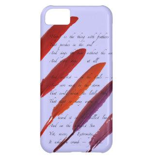 plumas de pájaro coloridas funda para iPhone 5C