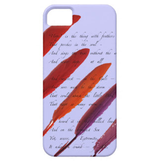 plumas de pájaro coloridas funda para iPhone 5 barely there
