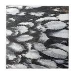 Plumas de plata del cordón azulejo cerámica