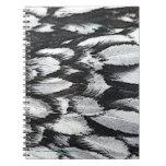 Plumas de plata del cordón cuaderno
