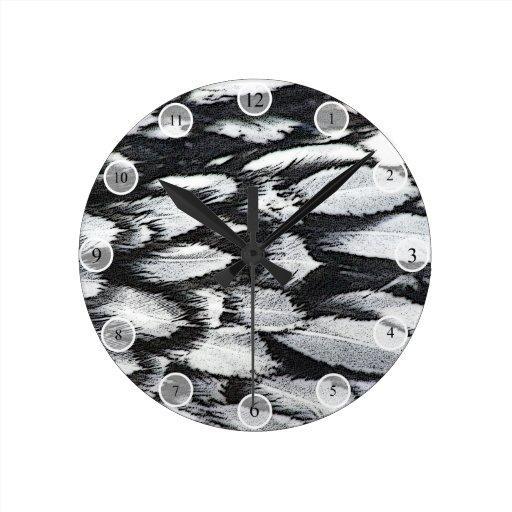 Plumas de plata del cordón relojes de pared