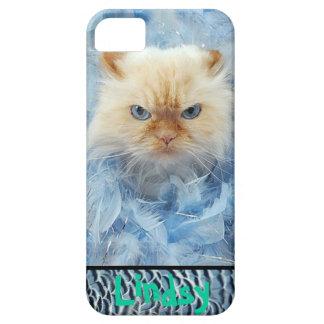 Plumas del gato del gatito funda para iPhone SE/5/5s