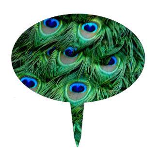 Plumas del pavo real decoraciones para tartas