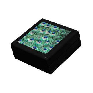Plumas del pavo real cajas de joyas