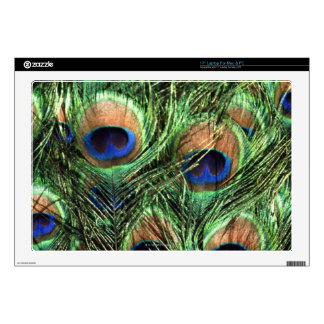 plumas del pavo real calcomanías para 43,2cm portátiles
