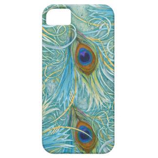 Plumas del pavo real de la cubierta de IPhone iPhone 5 Fundas