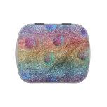 Plumas del pavo real del brillo del arco iris frascos de caramelos