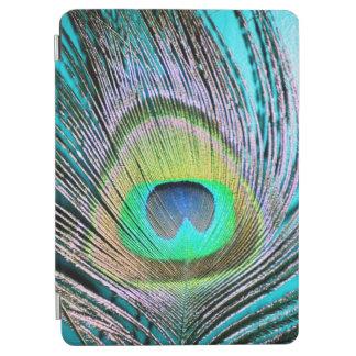 Plumas del pavo real en la turquesa cubierta de iPad air