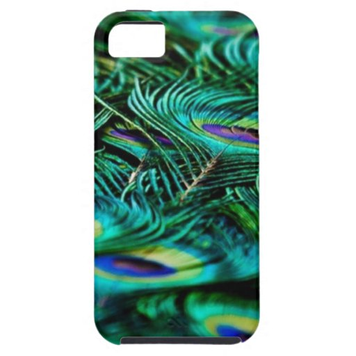 Plumas del pavo real iPhone 5 Case-Mate protector
