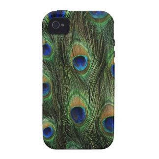 plumas del pavo real Case-Mate iPhone 4 funda