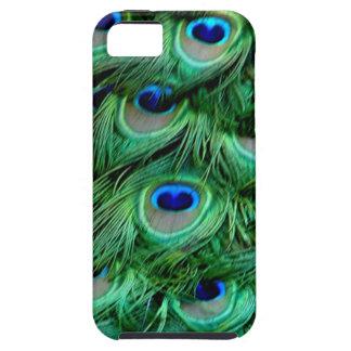 Plumas del pavo real funda para iPhone SE/5/5s