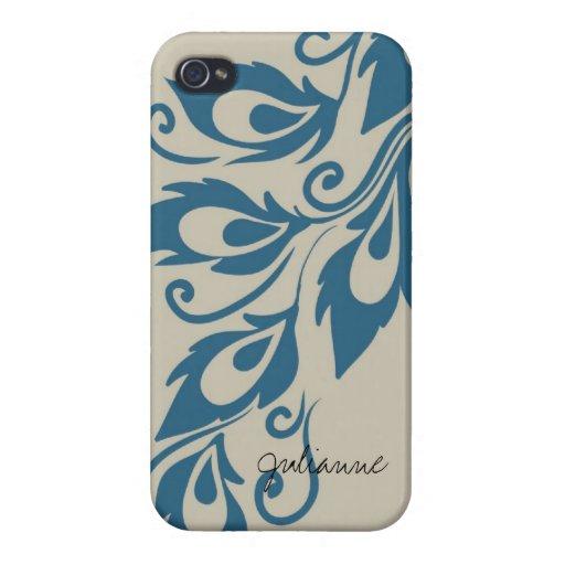Plumas del pavo real iPhone 4/4S carcasas