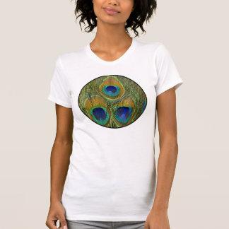 Plumas del pavo real camiseta