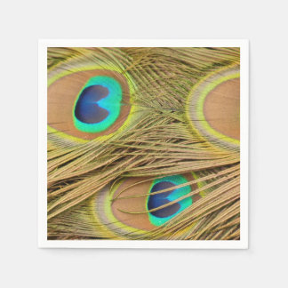 Plumas del pavo real servilleta desechable