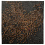 Plumas del pavo real servilleta imprimida